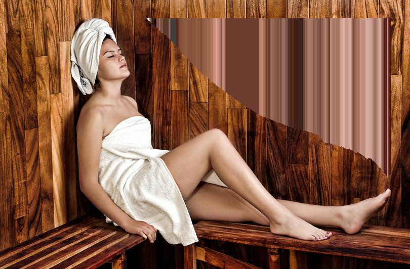 Die Sauna ist für Mitglieder gratis.